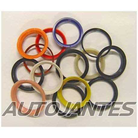 Set of 4 Spigot Rings in PVC 73,1 to 54,1 for Alloy Wheels
