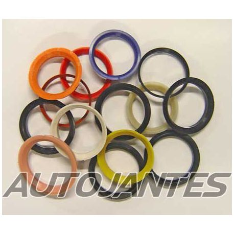 Set of 4 Spigot Rings in PVC 76,1 to 74,1 for Alloy Wheels