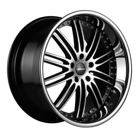 ALLOY WHEEL VERTINI HENNESSEY 5X120 8.5X19 BLACK MACHINE POLISH INOX