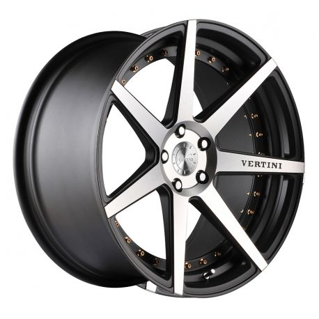 ALLOY WHEEL VERTINI DYNASTY 5X112 10.5X22 SLATE GREY MACHINE POLISH