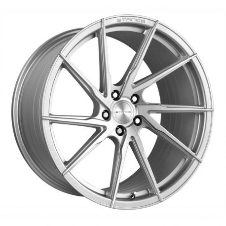 JANTE ALU STANCE WHEELS STANCE SF01 ROTARY FORGED DIRECTIONAL GAUCHE 20X10.5 5X120 ET27 BRUSH FACE SILVER 72.6<BR><BR> SOLDE JANVIER -30%
