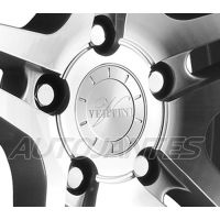 CENTRE CAP IN ALUMINIUM SILVER VERTINI WHEELS