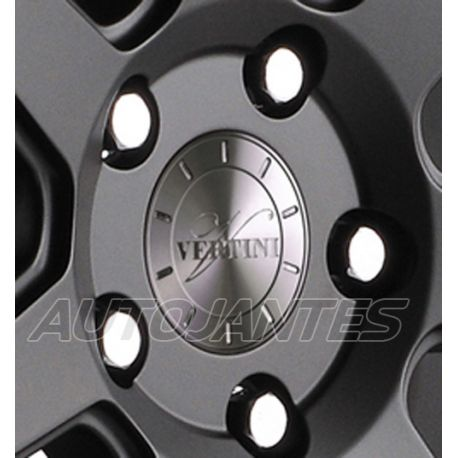 CENTRE CAP IN ALUMINIUM SLATE GREY FOR ALLOY WHEELS VERTINI
