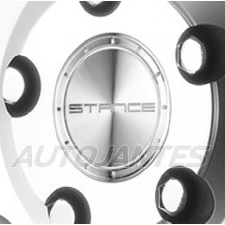 CENTRE CAP IN ALUMINIUM SILVER FOR ALLOY WHEELS STANCE