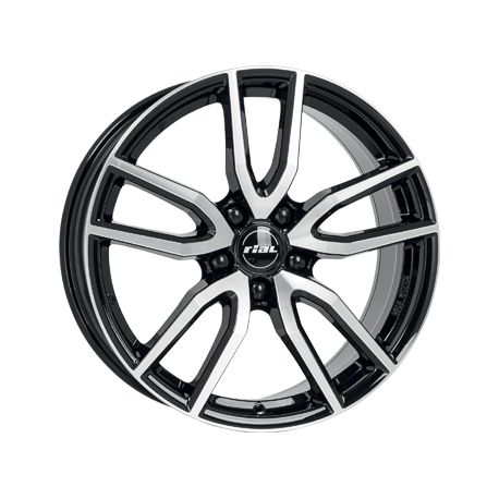 ALLOY WHEEL RIAL TORINO DIAMOND BLACK POLISHED FACE 5X108 6.5X16 ET50 63.4
