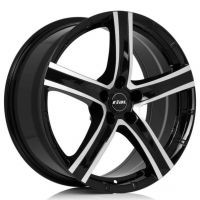 ALLOY WHEEL RIAL QUINTO DIAMOND BLACK POLISHED FACE