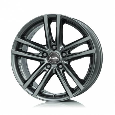 ALLOY WHEEL RIAL X10 METAL GREY 5X120 7.5X17 ET32 72.6