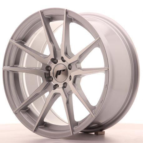 ALLOY WHEEL JAPAN RACING JR21 17X8 ET35 5X108/112 SILVER MACHI