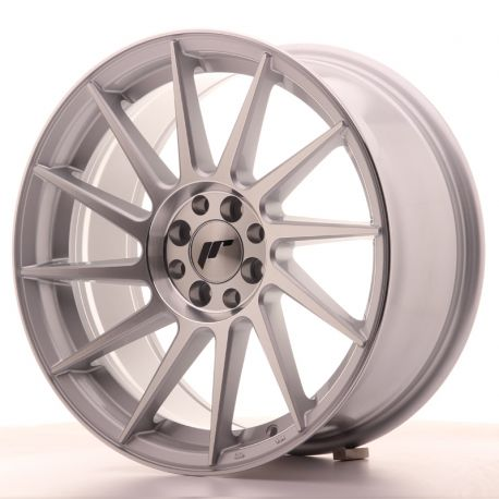 ALLOY WHEEL JAPAN RACING JR22 17X8 ET25 4X100/108 SILVER MACH