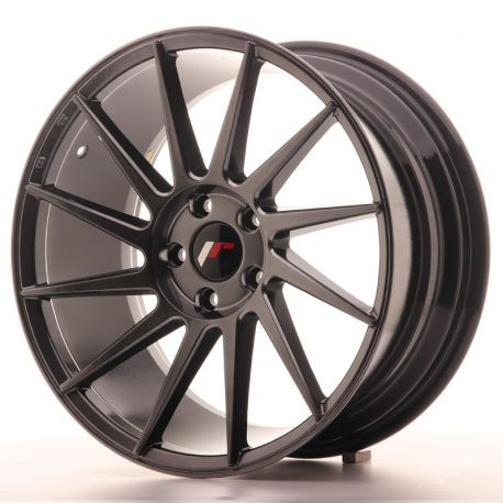 JANTE ALU JAPAN RACING JR22 18X8,5 ET40 5X112 HIPER BLACK