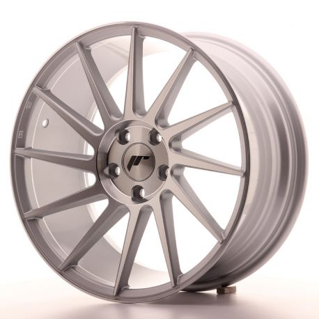 ALLOY WHEEL JAPAN RACING JR22 18X8,5 ET40 5X112 SILVER MACHINE
