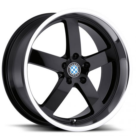 ALLOY WHEEL BEYERN RAPP 18x9.5 5/120 ET15 CB72.56 GLOSS BLACK MIRROR CUT LIP