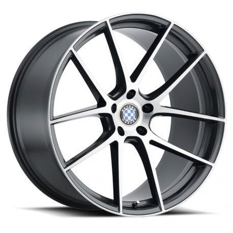 ALLOY WHEEL BEYERN RITZ 17X8.0 5/120 ET35 CB72.6 GLOSS GUNMETAL BRUSHED FACE