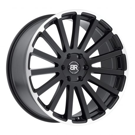 ALLOY WHEEL BLACK RHINO SPEAR 20x9.0 6/139.7 ET00 CB112.1 MATTE BLACK MATTE MACHINE LIP EDGE