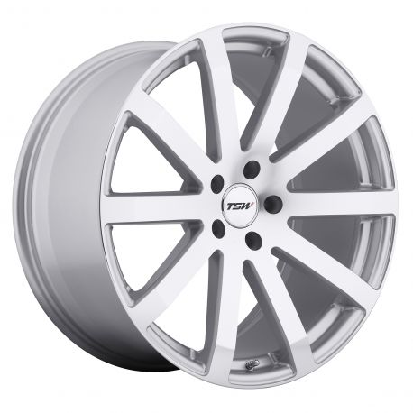 ALLOY WHEEL TSW BROOKLANDS 17x8.0 5/114.3 ET40 CB76.1 SILVER MIRROR CUT FACE