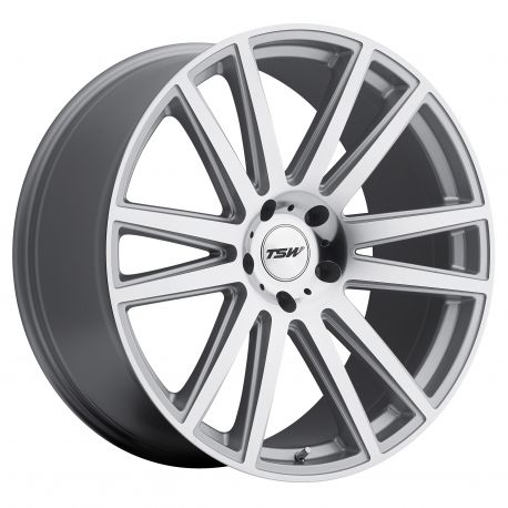 ALLOY WHEEL TSW GATSBY 22x10.0 5/112 ET44 CB66.56 SILVER MIRROR CUT FACE