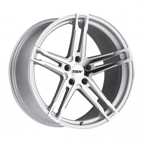 JANTE ALU TSW MECHANICA 19x9.5 5/120 ET39 CB76.1 SILVER MIRROR CUT FACE