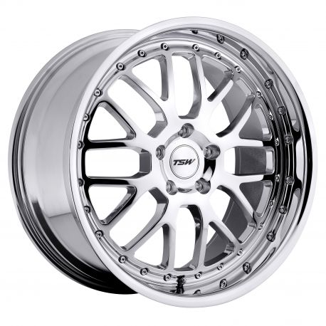 ALLOY WHEEL TSW VALENCIA 17x8.0 5/112 ET45 CB72.1 CHROME