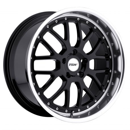 ALLOY WHEEL TSW VALENCIA 19x8.0 5/114.3 ET20 CB76.1 GLOSS BLACK MIRROR CUT LIP