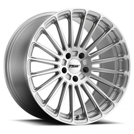 ALLOY WHEEL TSW TURBINA 22x9.0 5/108 ET37 CB72.1 TITANIUM SILVER MIRROR CUT FACE