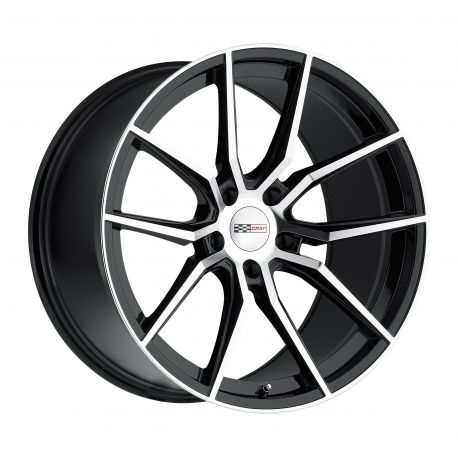 ALLOY WHEEL CRAY SPIDER 18x9.5 5/120.65 ET56 CB70.3 GLOSS BLACK MIRROR CUT FACE