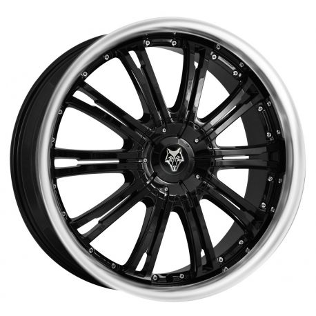 ALLOY WHEEL WOLFRACE VERMONT 6X127 8.5X20 ET35 GLOSS BLACK POLISH LIP 72.6