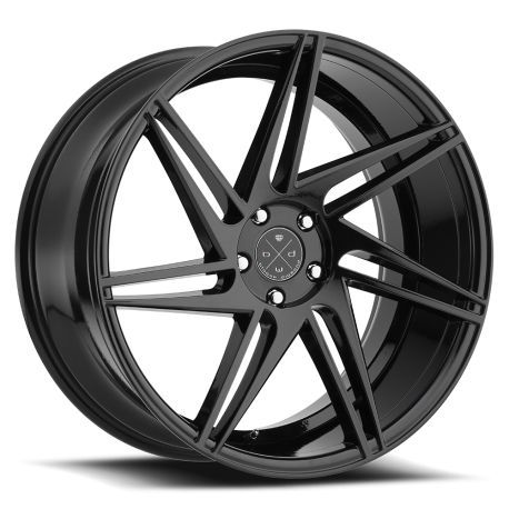 ALLOY WHEEL BLAQUE DIAMOND BD-1 10.5X22 5X112 ET30 66.6 GLOSS BLACK