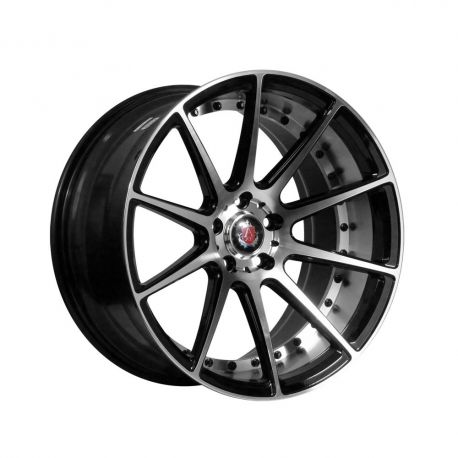 ALLOY WHEEL AXE EX16 5X112 10X20 ET42 72.6 BLACK / POLISHED FACE+BARREL