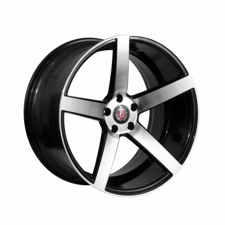 ALLOY WHEEL AXE EX18 5X118 9X20 ET38 73.1 GLOSS BLACK/POLISHED FACE