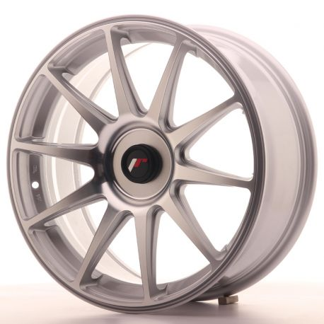 ALLOY WHEEL JAPAN RACING JR11 18X7,5 ET35-40 BLANK SILVER MACH