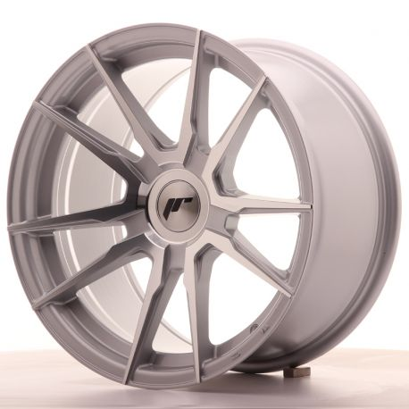 ALLOY WHEEL JAPAN RACING JR21 17X9 ET25-35 BLANK SILVER MACH