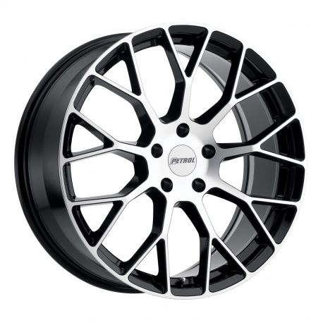 ALLOY WHEEL PETROL P2B 7X16 4X114,3 ET40 CB73.1 GLOSS BLACK W/MACHINE FACE
