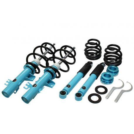 SUSPENSION ADJUSTABLE COILOVER KIT VOLKSWAGEN T5|T6 LOWERING FROM 40mm TO 70mm VANSLAM 5FORTY