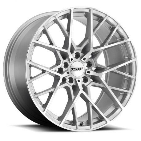 ALLOY WHEEL TSW SEBRING 22x9.0 5/120 ET20 CB76.1 SILVER W/MIRROR CUT FACE