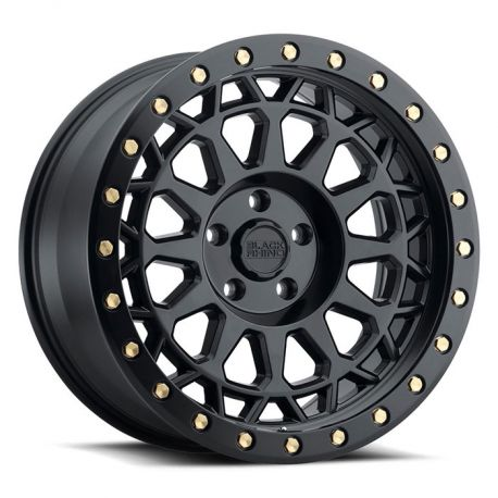 ALLOY WHEEL BLACK RHINO PRIMM 20x9.5 6/114.3 ET18 CB76.1 MATTE BLACK W/BRASS BOLTS