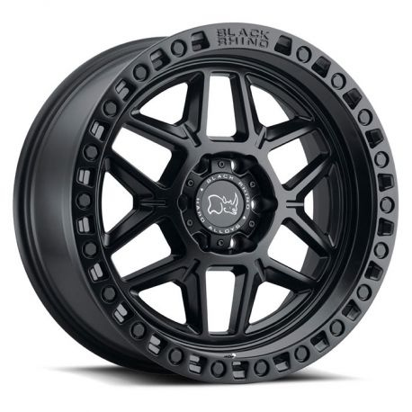 ALLOY WHEEL BLACK RHINO KELSO 18X9.0 6/139.7 ET-12 CB112.1 MATTE BLACK W/BLK BOLTS