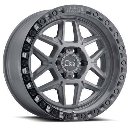 ALLOY WHEEL BLACK RHINO KELSO 17x9.0 5/139.7 ET00 CB78.1 BATTLESHIP GRAY W/BLK LIP EDGE AND BL