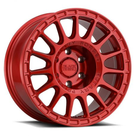 ALLOY WHEEL ROTARY FORGED BLACK RHINO SANDSTORM 17X8.0 5/114.3 ET35 CB76.1 CANDY RED