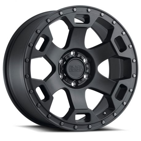 ALLOY WHEEL BLACK RHINO GAUNTLET 20X9.0 6/139.7 ET12 CB112.1 SEMI GLOSS BLACK W/GUNMETAL BOLT