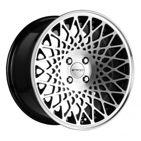 ALLOY WHEEL STANCE WHEELS STANCE ENCORE 17X8,5 4X100 ET35 BLACK MACHINE POLISH<BR><BR>