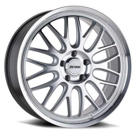 ALLOY WHEEL PETROL P4C 20X8.5 5X114 ET40 CB76.1 SILVER WXMACHINED FACE AND LIP